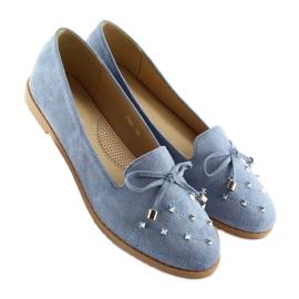 Mokasyny lordsy niebieskie 2568 blue 1