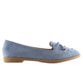 Mokasyny lordsy niebieskie 2568 blue 4