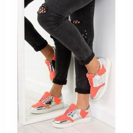 Buty sportowe neonowo lustrzane GQ2336 Orange pomarańczowe 5