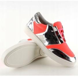 Buty sportowe neonowo lustrzane GQ2336 Orange pomarańczowe 3