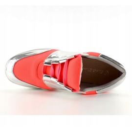 Buty sportowe neonowo lustrzane GQ2336 Orange pomarańczowe 4
