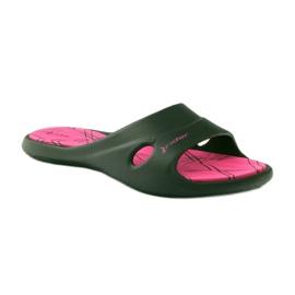 Klapki basenowe żelowe Rider 82214 czarne różowe 1