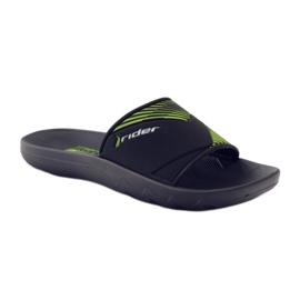 Klapki basenowe Rider 82325 czarne zielone 1