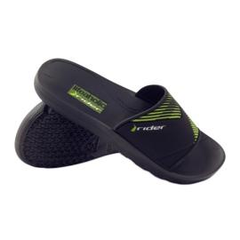 Klapki basenowe Rider 82325 czarne zielone 3