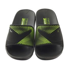 Klapki basenowe Rider 82325 czarne zielone 4