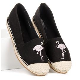 Bestelle Czarne espadryle z flamingiem 4
