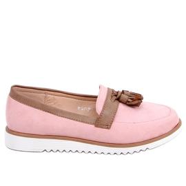 Mokasyny damskie różowe 9167 Pink 1