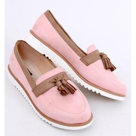 Mokasyny damskie różowe 9167 Pink 2