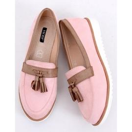 Mokasyny damskie różowe 9167 Pink 3