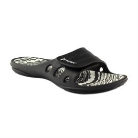 Klapki basenowe rzepy Rider 82213 czarne białe 1
