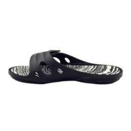Klapki basenowe rzepy Rider 82213 czarne białe 2