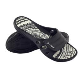 Klapki basenowe rzepy Rider 82213 czarne białe 3