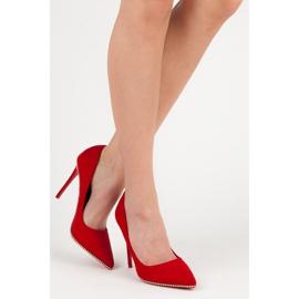 Seastar Modne czerwone szpilki 6