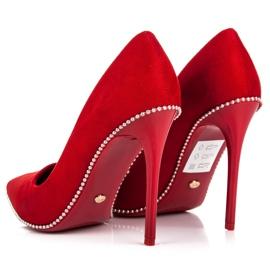 Seastar Modne czerwone szpilki 3