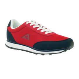 American Club Buty sportowe wiązane American czerwone 1