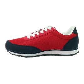 American Club Buty sportowe wiązane American czerwone 2