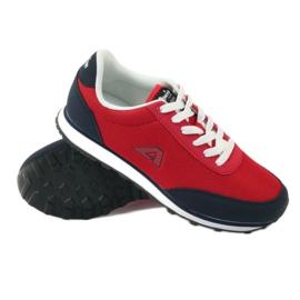 American Club Buty sportowe wiązane American czerwone 3