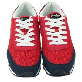 American Club Buty sportowe wiązane American czerwone 4