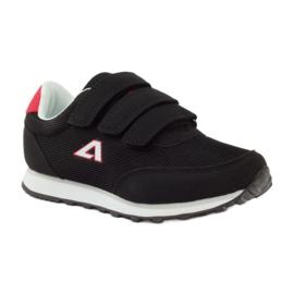 American Club Buty Sportowe trampki na rzepy American czarne 1
