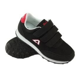 American Club Buty Sportowe trampki na rzepy American czarne 3