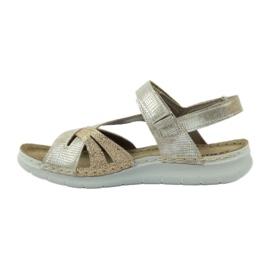 Sandały z wkładką skórzaną Inblu 004 złote 2