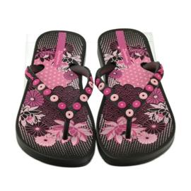 Klapki japonki w kwiatki Ipanema 82387 czarne różowe 4