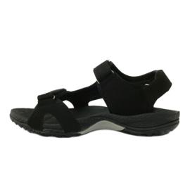 Sandały na rzepy lekki spód EVA DK czarne 2