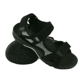 Sandały na rzepy lekki spód EVA DK czarne 3