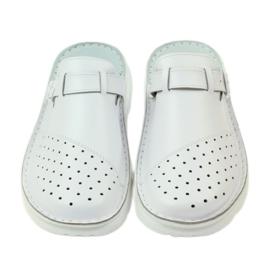 Klapki sandały ortopedyczne medyczne białe 4