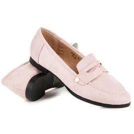 Sweet Shoes Różowe Wsuwane Mokasyny 5