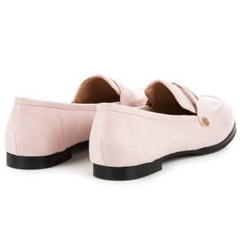 Sweet Shoes Różowe Wsuwane Mokasyny 4