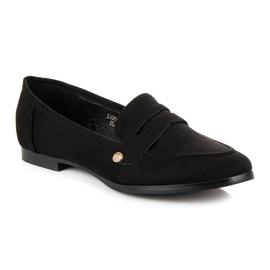 Sweet Shoes Czarne wsuwane mokasyny 3