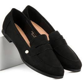 Sweet Shoes Czarne wsuwane mokasyny 2