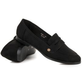 Sweet Shoes Czarne wsuwane mokasyny 1