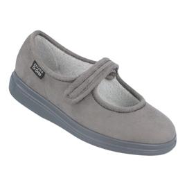 Befado obuwie damskie pu 462D001 szare 1