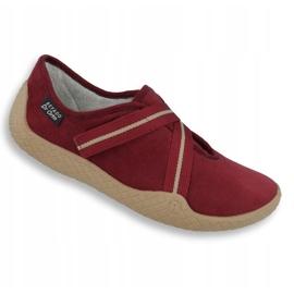 Befado obuwie damskie pu--young 434D016 czerwone 1