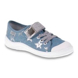 Befado obuwie dziecięce 251Y094 szare niebieskie 1