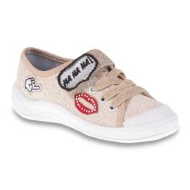 Befado obuwie dziecięce 251X098 brązowe 1