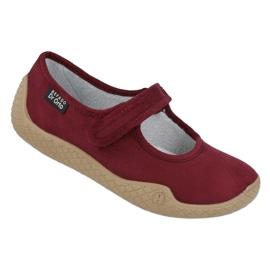 Befado obuwie damskie pu--young 197D003 czerwone wielokolorowe 1