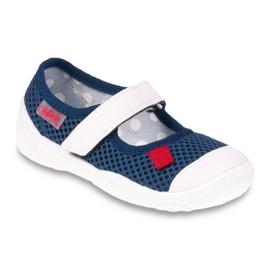Befado obuwie dziecięce 209P024 granatowe białe 1