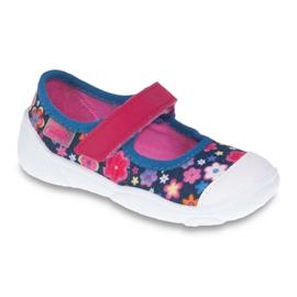 Befado obuwie dziecięce 209P026 granatowe różowe 1