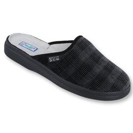 Befado obuwie męskie  pu 125M011 czarne szare 1
