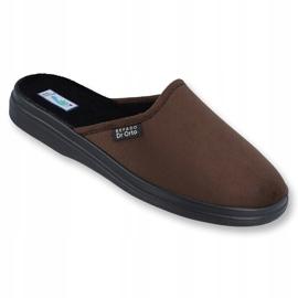 Befado obuwie męskie  pu 125M008 brązowe 1