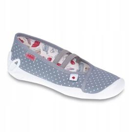 Befado obuwie dziecięce 116Y199 białe szare 1
