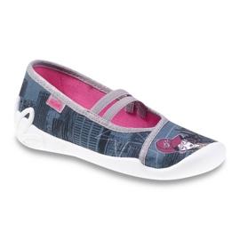 Befado obuwie dziecięce 116Y229 szare wielokolorowe 1