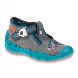 Befado obuwie dziecięce 110P314 szare niebieskie 1