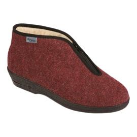 Befado obuwie damskie pu 041D050 czerwone wielokolorowe 1