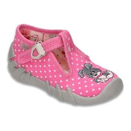 Befado obuwie dziecięce 110P293 różowe 1