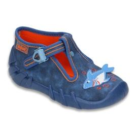 Befado obuwie dziecięce 110P297 niebieskie 1