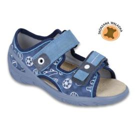 Befado obuwie dziecięce pu 065X118 niebieskie 1